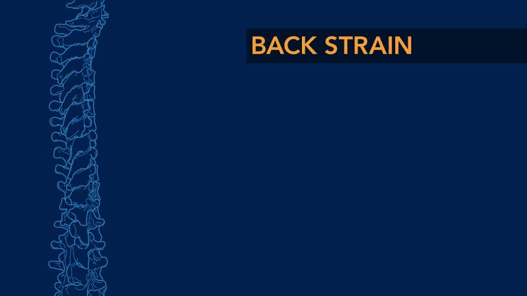 Back Strain