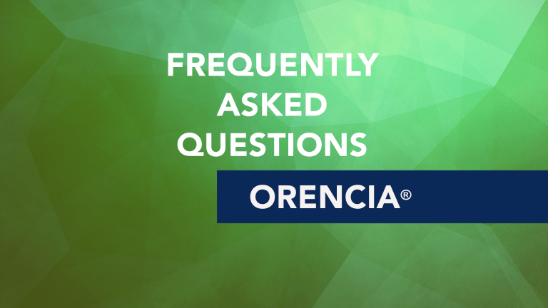 Frequently Asked Questions About Orencia (abatacept)