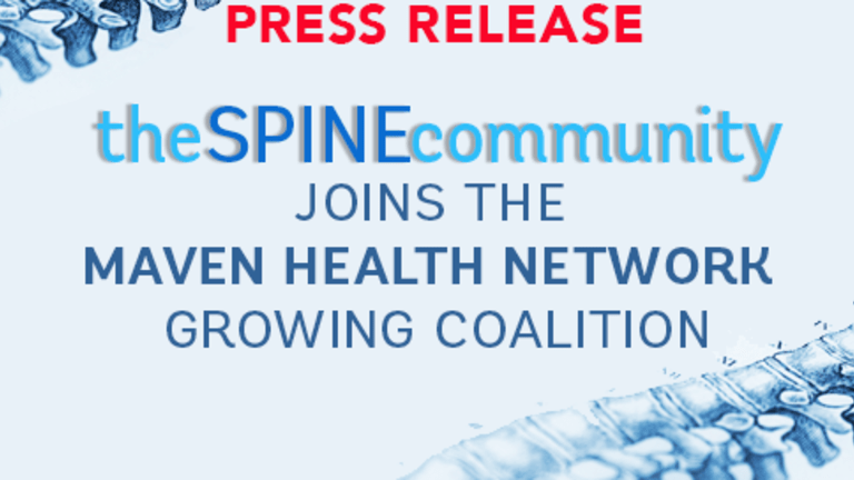 TheSpineCommunity Joins The Maven Health Network Growing Coalition
